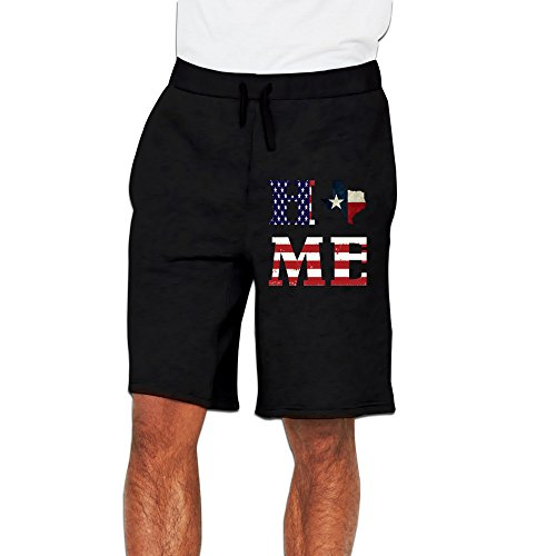 UANLA USA Flag Home Of State Of Texas Map Mens Performance Shorts Sweatpants