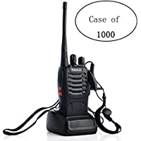 Case of 1000, Retevis H-777 Two Way Radios UHF 400-470MHz Signal Frequency Single Band Rechargeable with Original Earpiece