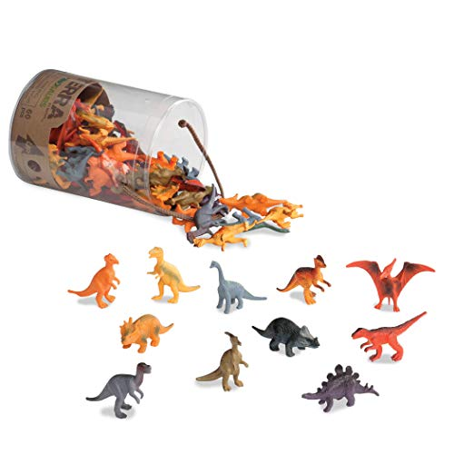 Terra by Battat - Dinosaurs - Assorted Miniature Plastic Dinosaur Toy Figures & Cake Toppers For Kids 3+ (60 Pc) -