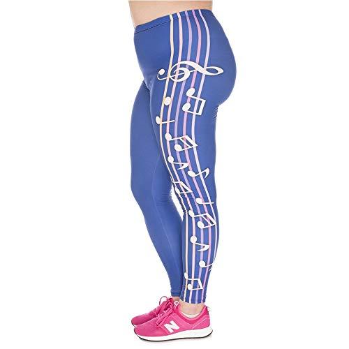 Moda Grassoccia Colore Yoga Leggins Pantaloni A Nuove Classiche Blu Ghette Vita Musica Ragazzi Di Stampato Plus Donne Stretch Alta IOwwAa