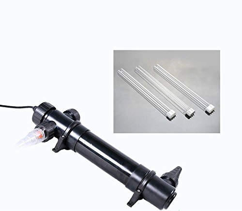 Fish & Aquatic Pets 36W UV Sterilizer Clarifier Pond Koi Aquarium Fish Tank Filter+replacement bulbs by FISH