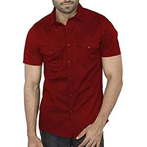 BASE 41 Men's Regular Fit Casual Shirt
