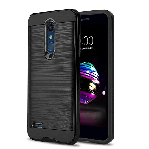 Phone Case for [LG XPRESSION Plus (AT&T)], [Protech Series][Black] Shockproof Brushed Slim Cover [Impact Resistant][Defender] for LG Xpression Plus (AT&T Prepaid Phone)