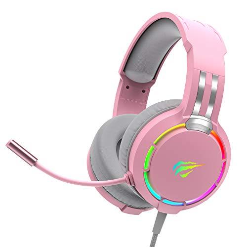havit RGB Wired Gaming Headset (roze)