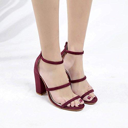 Bloc Fermeture Cheville Hauts Sandales Chaussures Poisson éclair Lolittas à Rouge Bouche Exposés Orteils Talons 16vxg5q
