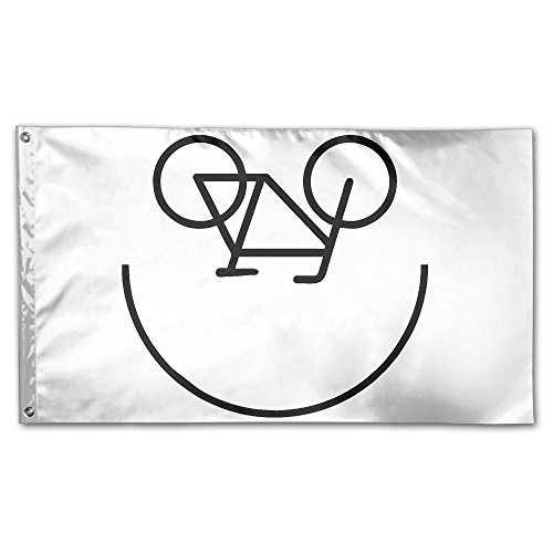 Homlife 59 X 35 Inch Garden Flag Bike Smiley Decorative Colorful Yard Flags Indoor&Outdoor Home Fall Flags Holiday Decor