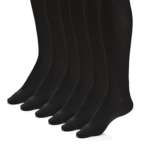 The Right Fit Mens Colonial Ribbed Casual Comfort Work Knee High Dress Socks, Black, 13-15, 6 Pk (Soccer Player Costumes)