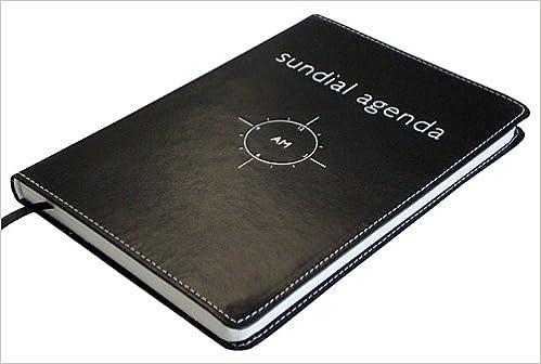 Leatherlook Sundial Agenda - Medium (Silver foil stamping ...