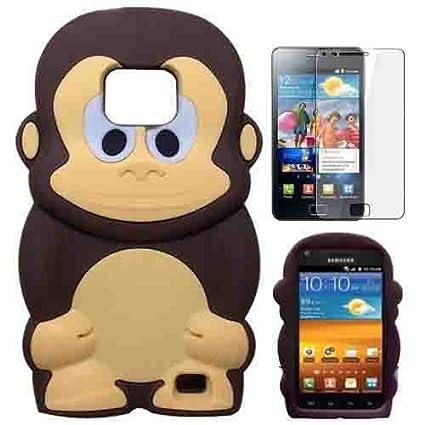 castho 3d lieblich silicona mono Carcasa con protector de pantalla ...