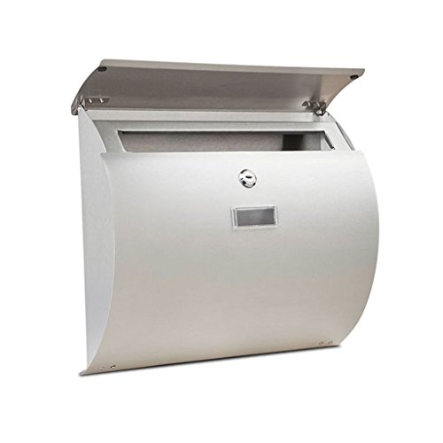 - BJLWTQ Stainless Steel Wall Mounted Mail Letter Post Box Mailbox A4 Outdoor Lockable Waterproof With Newspaper Holder