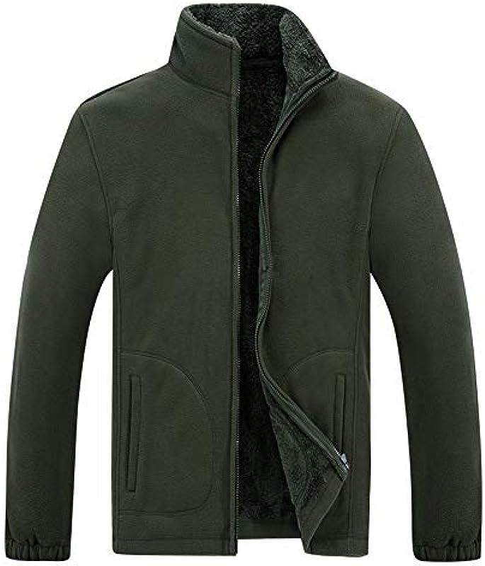 Prjn męska kurtka z długim rękawem Solid Color kurtka męska Casual Fashion Full Zip ciepła kurtka polarowa topy jesień i zimę sweter kieszonkowy duży rozmiar sweter męski zamek b&#