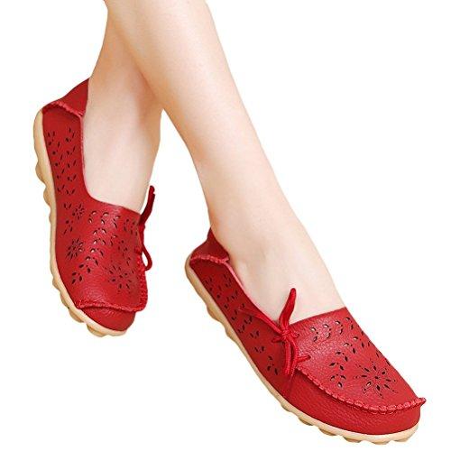 Donna Basso Espadrillas Casuali Comfort Stile Tacco Scarpe Rossa Pompe Scarpe Vogstyle Col Piatto 2 dWHqZdIz