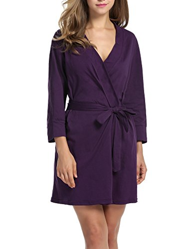 Hotouch Cotton Bathrobe Lightweight Lounge product image