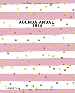 Agenda Anual 2019 Semana Vista: Agenda Semanal , Diseño ...