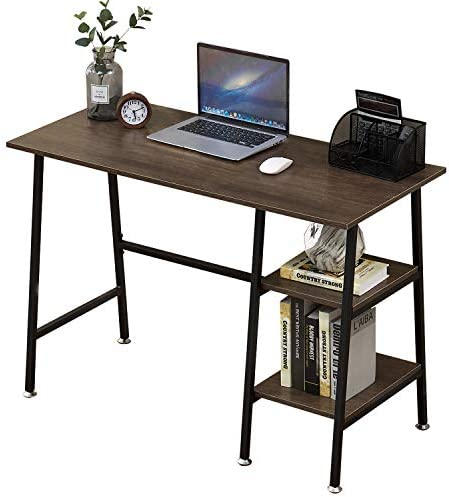 VECELO Computer Storage Workstation Study Desk Writing Table