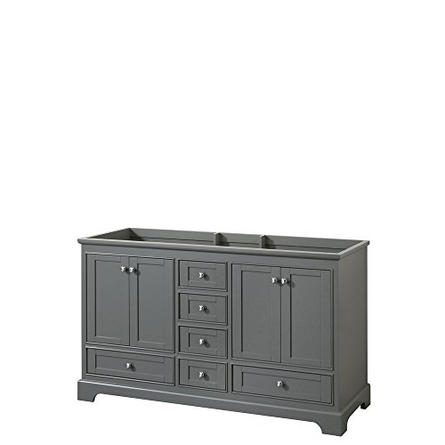 CS202060DKGCXSXXMXX Deborah Double Vanity Cabinet, No Countertop, No Sinks, and No Mirror, 60