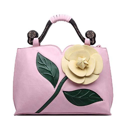 porté Pink en femme Sac bandoulière Sac fille pour Sac épaule à OHmais PU main Cuir 8gnw647ntq