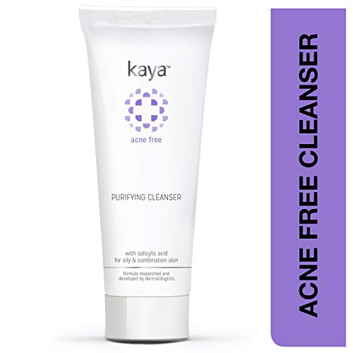 Kaya Clinic Acne Free Purifying Cleanser, Salicylic Acid face wash for pimple-prone, combination, oily skin, 100 ml