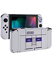 [Update Version] Portable DIY Replacement Housing Shell Case for Right Left Switch Joy-Con Controller Without Electronics (White+White)