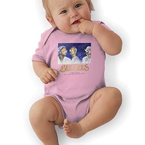 sretinez Boys & Girls Bee Gees The All Time Bodysuit Outfits Pink -