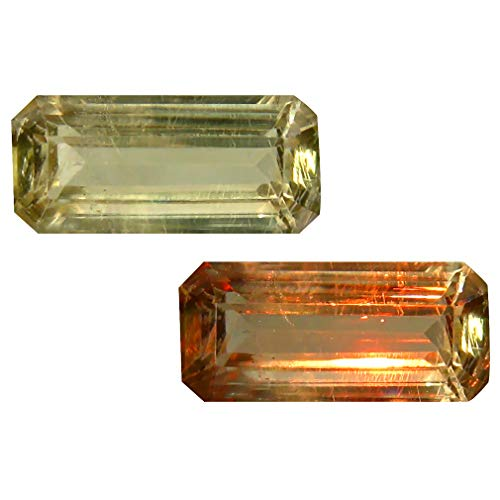 Deluxe Gems 3.48 ct Octagon Cut (14 x 6 mm) Unheated/Untreated Turkish Color Change Diaspore Natural Loose Gemstone