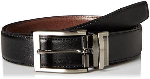 Perry Ellis Men's Perry Ellis Portfolio Men's Nappa Leather Reversible Belt, Black/brown, 34