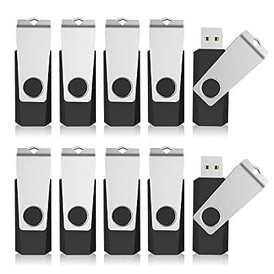 KEXIN Bulk USB Pack USB 2.0 Flash Drives Flash Drive Thumb Drive Bulk Flash Drive Swivel Black from KEXIN