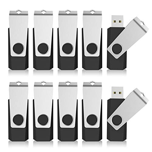 KEXIN Bulk USB Drives 100pcs 128MB USB Flash Drives Flash Drive Thumb Drive Bulk Flash Drives Swivel USB 2.0 (128MB, 100PCS, Black) ()