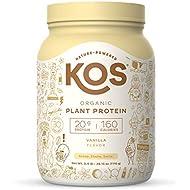 KOS Organic Plant Based Protein Powder, Vanilla - Delicious Vegan Protein Powder - Gluten Free, Dairy Free & Soy Free - 2.4 Pounds, 30 Servings