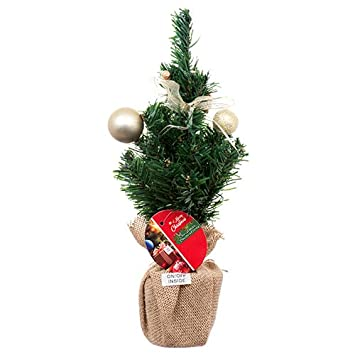 decorated tabletop mini tree stands 18 inches christmas artificial pine tree on