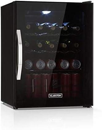 BUEN ENFRIAMIENTO: El mejor enfriamiento en un negro lujoso, la nevera Beersafe XL Onyx de Klarstein