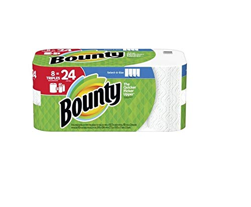 Bounty Select-A-Size White Paper Towels, 8 Triple Rolls, Pack of 1