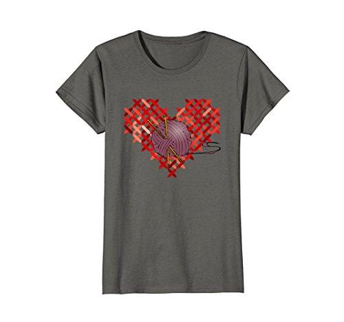 Womens Love Knitting Fun Crafting Gift T Shirt, Knitting Club, Dk XL (Love Knitting)