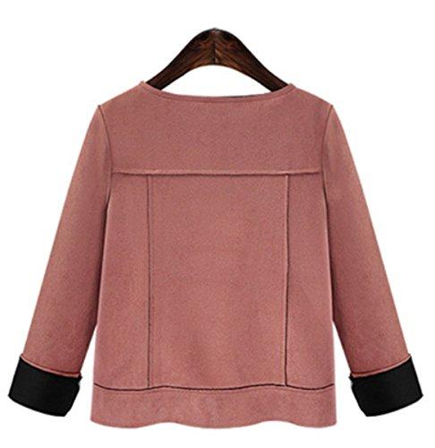 Otoño Jacket Moda Grande E Talla Yogly Invierno Chaqueta Cachemira Mujer De wI64aqp