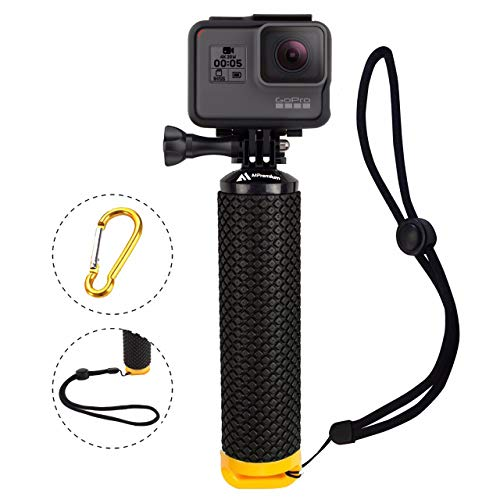 Waterproof Floating Hand Grip Compatible with GoPro Camera Hero 5 Session Black Silver Hero 6 5 4 3 2 1 Handler & Handle Mount Accessories Kit for Water Sport and Action Cameras (Yellow)