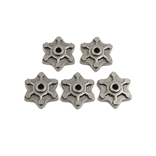 (uxcell 5 Pcs Gray Six Angle Star Shaped Motorcycle Engine Speed Gear Cam for CG125)