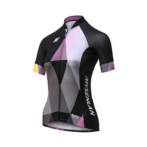 ling Jersey Running Shirt Short Sleeve Breathable Bike Shirt Sports T-Shirt Black ()
