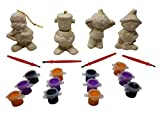 J&J's ToyScape 3'' Ceramic Halloween Figurine Painting Sets (Pack of 4 Styles) Kid's Halloween Craft & Decorations