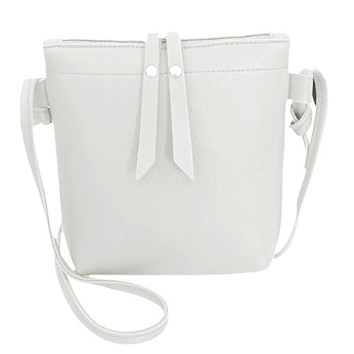 Casual Small Bags Leather Pure White Zipper Women Shoulder Domybest Messenger PU Handbags xXB0qnpB1