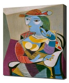 Lilarama Pablo Picasso - Seated Woman 1938 Framed Canvas Art Print Reproduction