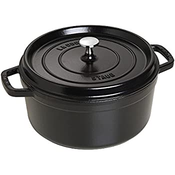 Amazon.com: Staub 1102625 Cast Iron Round Cocotte, 5.5