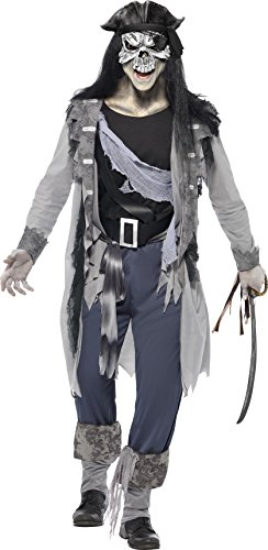[Smiffy's Ghost Ship Haunted Swashbuckler Costume, Multi, Large] (Haunted Ghost Costume)