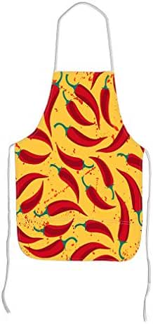 Chili Pepper Adjustable Bib Kitchen Apron