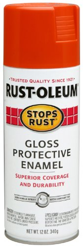 Rust-Oleum 250704 Stops Rust Spray Paint, 12-Ounce, Gloss Lobster Red ()