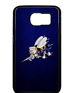 ExpressItBest Case for Samsung Galaxy 6 - US Naval Construction Force (CBs, SeaBees), logo from ExpressItBest.com