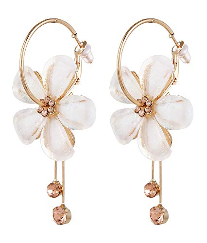 YouBella Jewellery Gold Plated Floral Earrings for Girls and Women