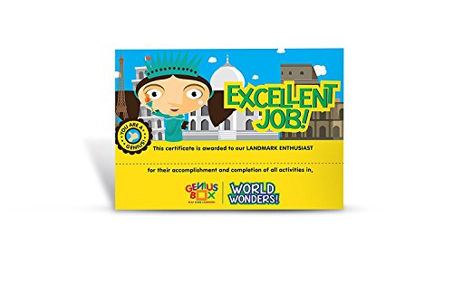 Genius Box World Wonders Toddler kit   5 in 1 Creative DIY Activity Kit   Puzzles Game for Over 5 Years Kids   Education Activities Game   Fun Learning Toys   Education Toys Gift
