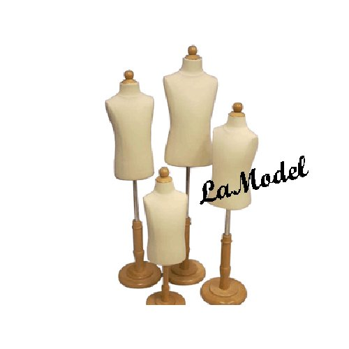 4 units of children body dress forms as display mannequins (6 months,1-2, 3-4, and 6-8 years old)