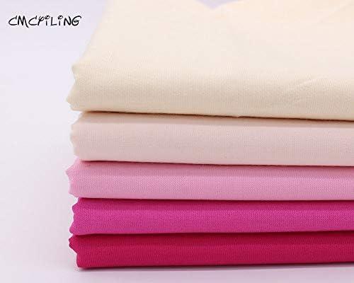 Tela de algodón de Color Rosa de Alta pureza, Tela de Costura, Tela de retales de algodón, Tela Tejida para el hogar, Tela de retales Gruesos, Color 2, 150 cm x 148