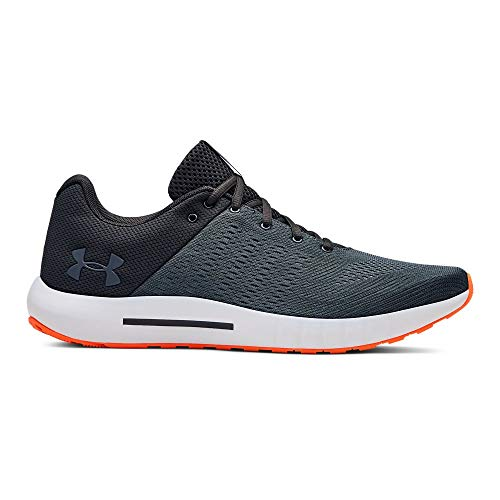 Under Armour mens Micro G Pursuit Running Shoe, Jet Gray (113)/White, 8.5
